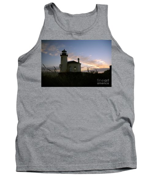 Coquille River Lighthouse At Sunset Tank Top