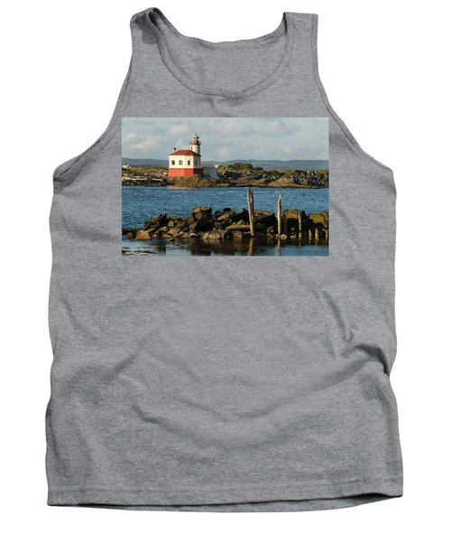 Coquille River Lighthouse Bandon Oregon Tank Top