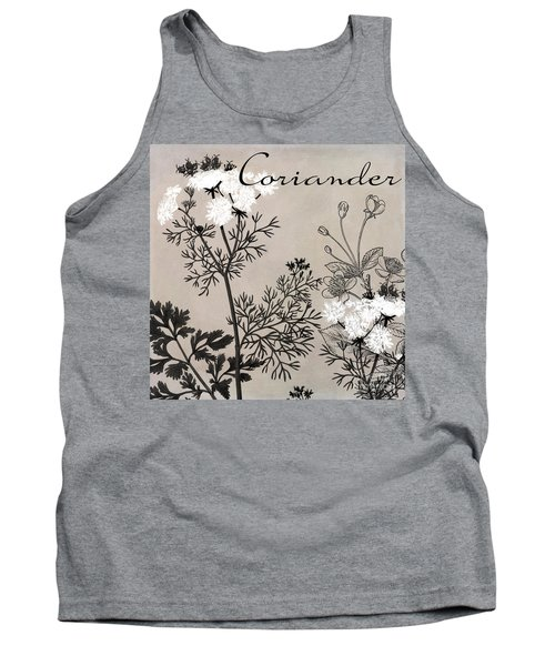 Coriander Flowering Herbs Tank Top
