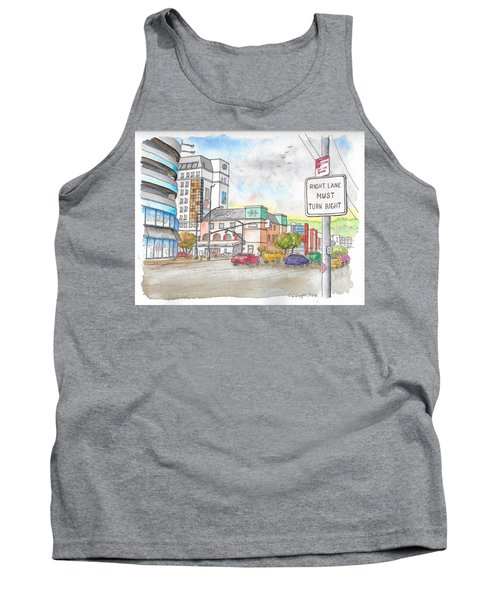 Corner La Cienega Blvd. And Beverly Blvd., Sofitel Hotel, West Hollywood, Ca Tank Top