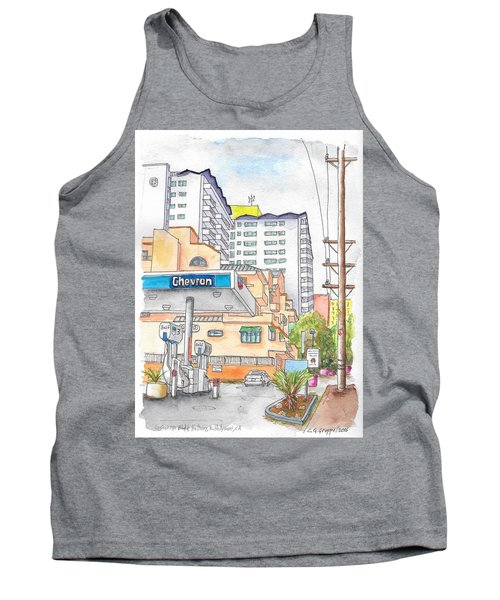 Corner La Cienega Blvd. And Hallway, Chevron Gas Station, West Hollywood, Ca Tank Top