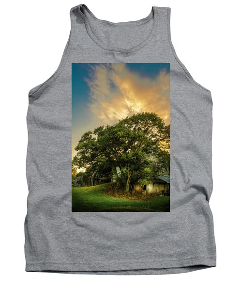 Tank Top featuring the photograph Corner Oak by Marvin Spates
