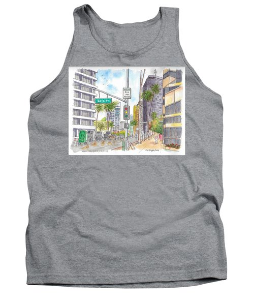 Corner Wilshire Blvd. And Gale Dr., Beverly Hills, Ca Tank Top