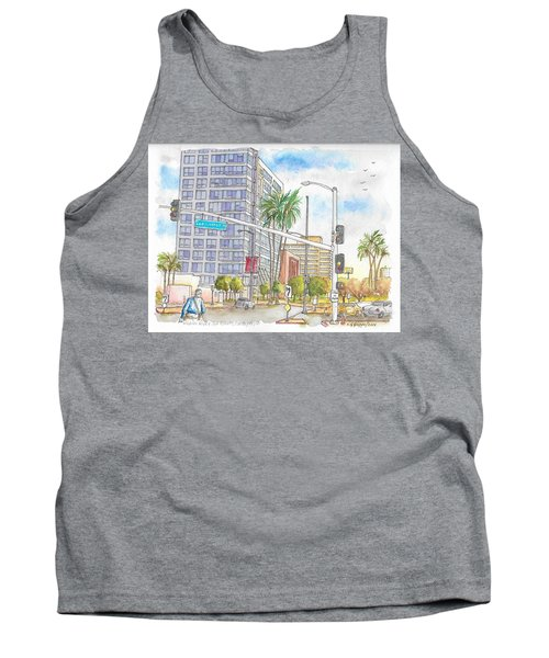 Corner Wilshire Blvd. And San Vicente Blvd, Los Angeles, Ca Tank Top