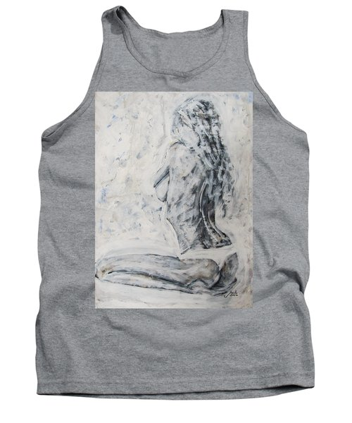 Tank Top featuring the painting Cosmic Love by Jarko Aka Lui Grande