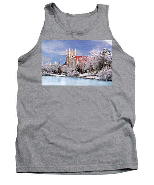 Tank Top featuring the photograph Country Club Christian Church by Steve Karol
