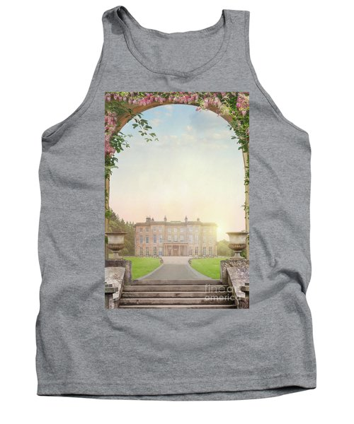 Country Mansion At Sunset Tank Top