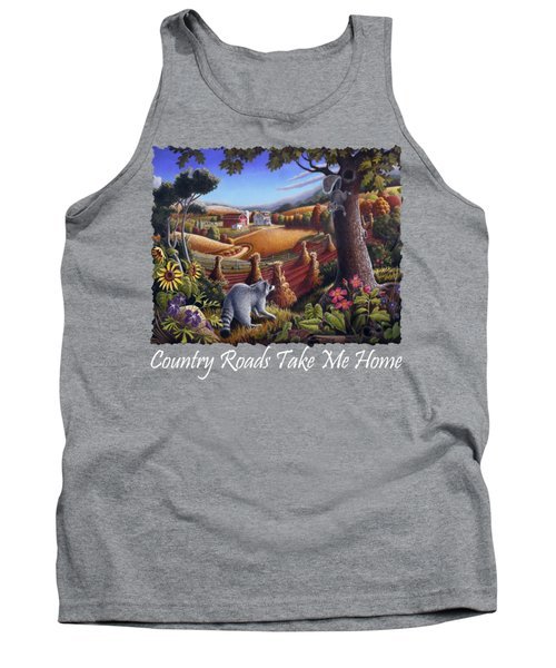 Country Roads Take Me Home T Shirt - Coon Gap Holler - Appalachian Country Landscape 2 Tank Top