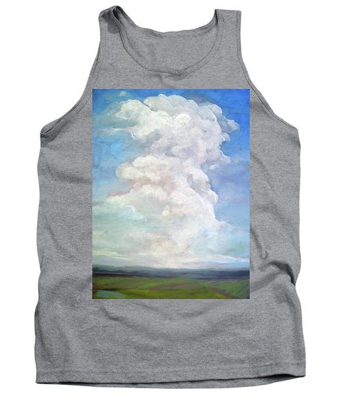 Tank Top featuring the painting Country Sky - Painting by Linda Apple
