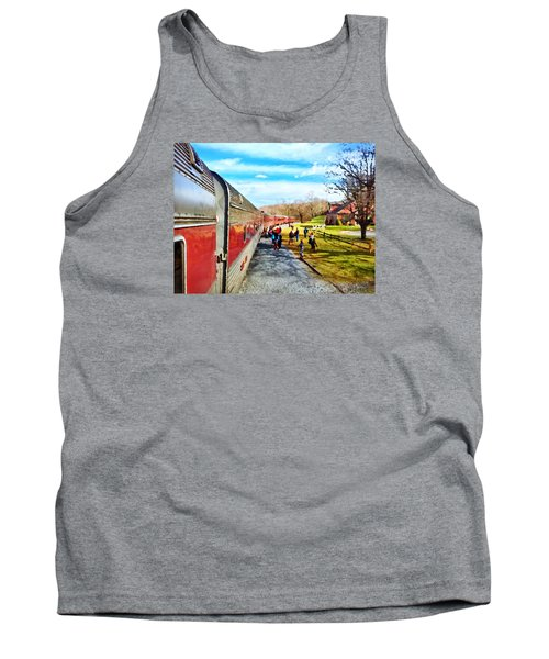 Country Train Depot Tank Top