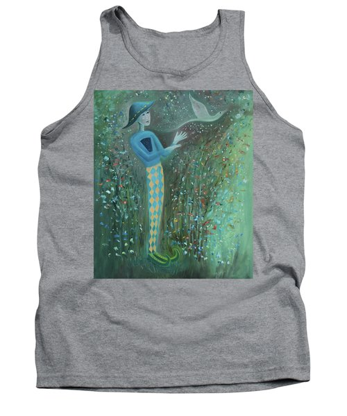Tank Top featuring the painting Cousin Good Shoes Sentinel by Tone Aanderaa
