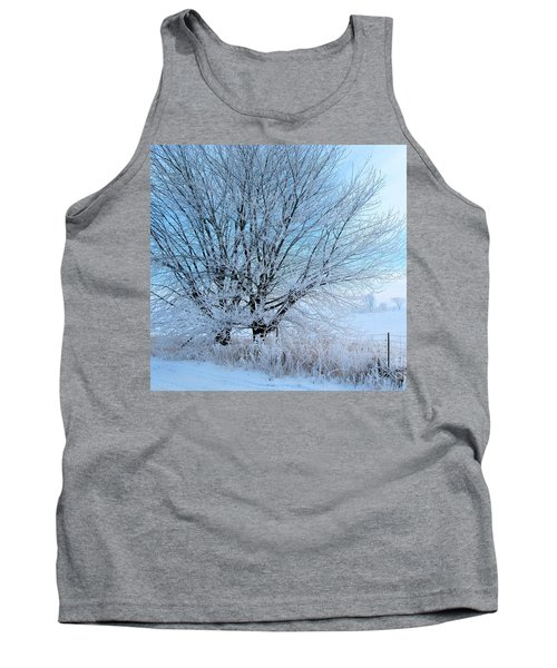 Tank Top featuring the photograph Covered In Ice by Heather King