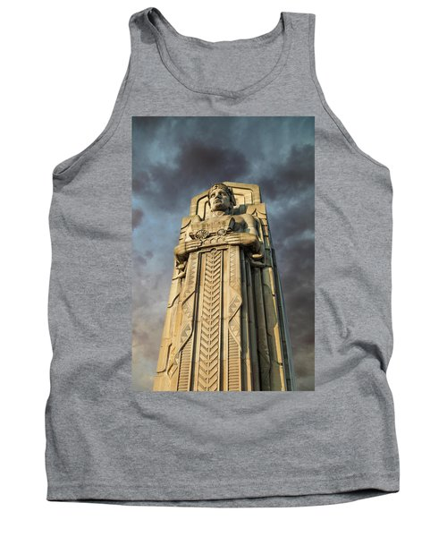 Covered Wagon Guardian On Hope Memorial Bridge Tank Top