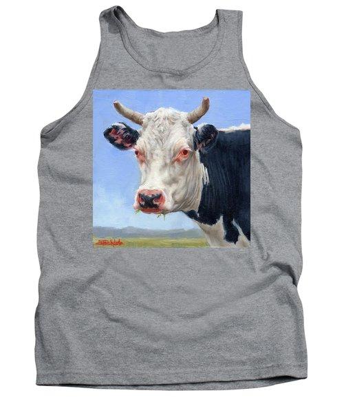 Cow Portrait  Mini Painting Tank Top