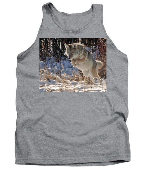 Coyote In Mid Jump Tank Top