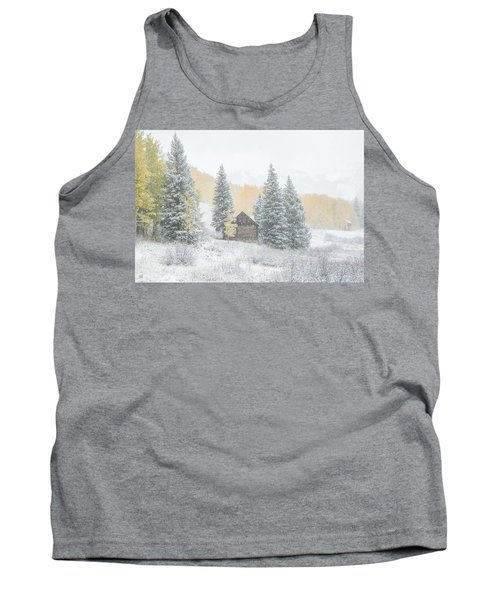 Tank Top featuring the photograph Cozy Cabin by Kristal Kraft