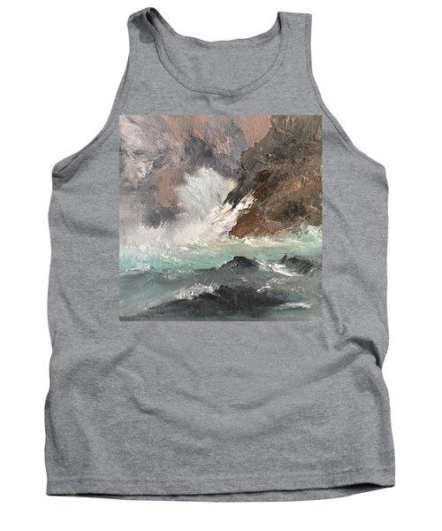 Crashing Waves Seascape Art Tank Top by Michele Carter