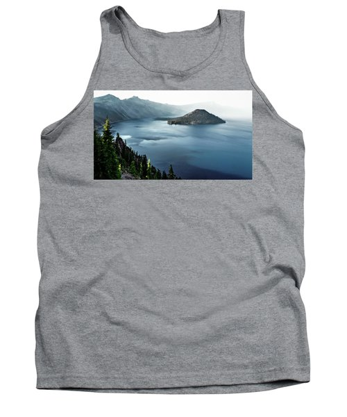 Tank Top featuring the photograph Crater Lake Under A Siege by Eduard Moldoveanu