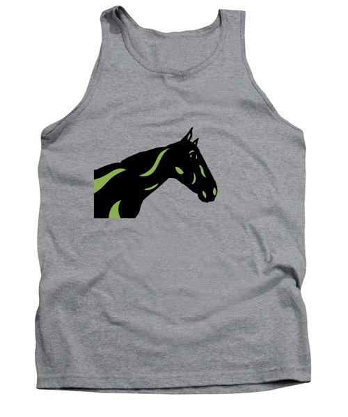 Crimson - Pop Art Horse - Black, Greenery, Purple Tank Top
