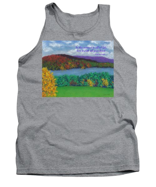 Crisp Kripalu Morning - With Quote Tank Top