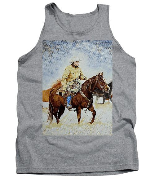 Cropped Ranch Rider Tank Top