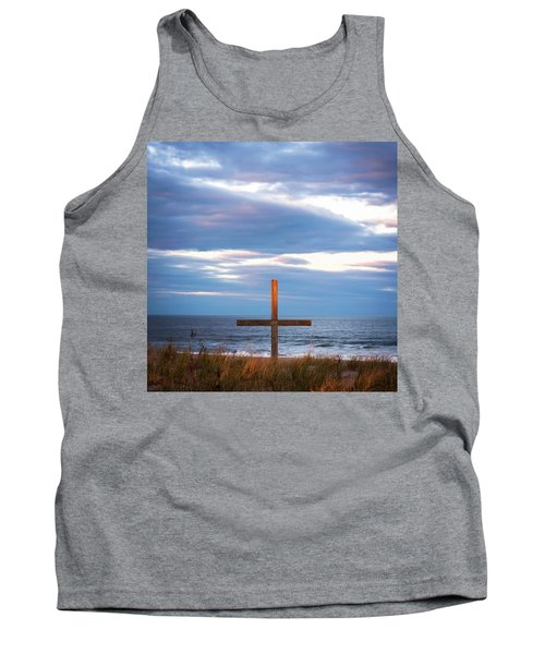 Tank Top featuring the photograph Cross Light Square by Terry DeLuco