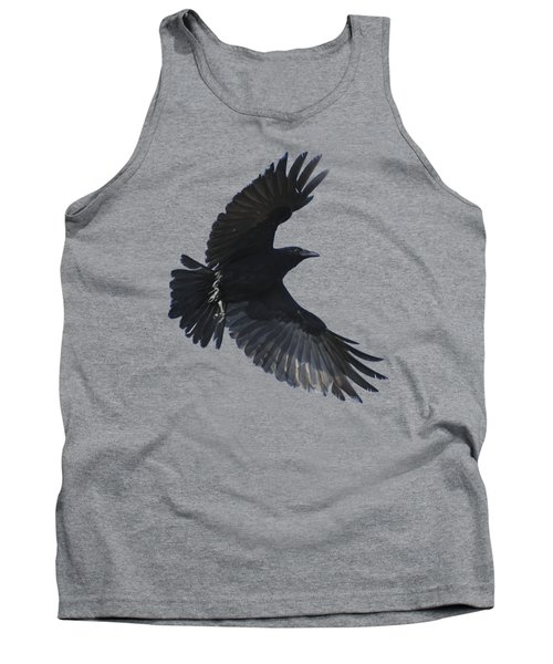 Tank Top featuring the photograph Crow In Flight by Bradford Martin