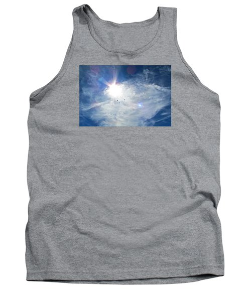 Tank Top featuring the photograph Crows Above by Brenda Pressnall