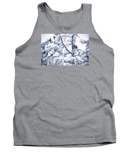 Crows In Snow Tank Top