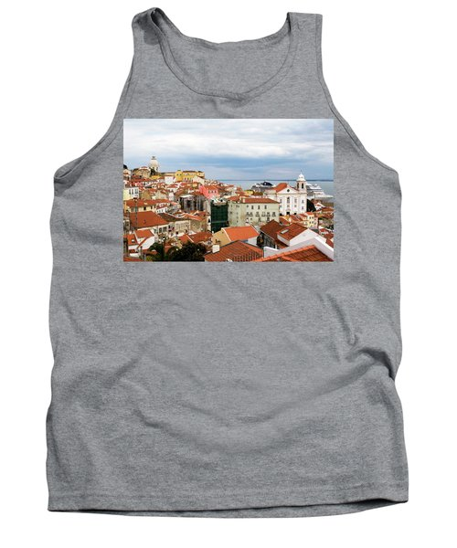 Tank Top featuring the photograph Cruise Ship Peeks by Lorraine Devon Wilke