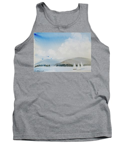 Tank Top featuring the painting Cruising In Company Along The Tasmania Coast  by Dorothy Darden