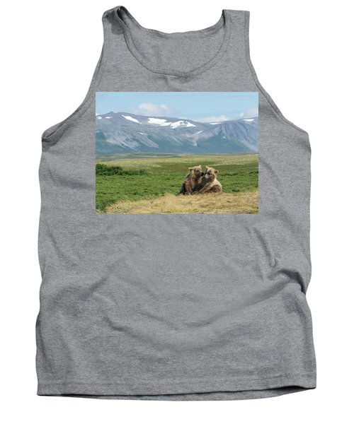Cubs Playing On The Bluff Tank Top