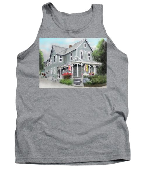 Tank Top featuring the drawing Cup A Joes Coffee Shop by Albert Puskaric