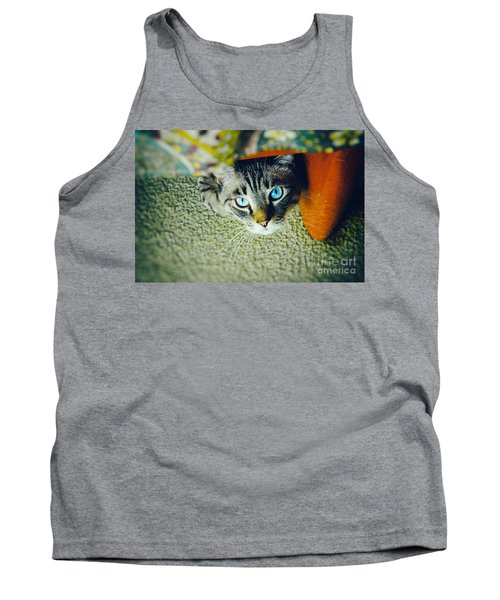 Tank Top featuring the photograph Curious Kitty by Silvia Ganora