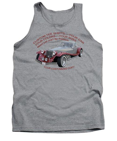 Custom Tee Shirts Tank Top by Jack Pumphrey