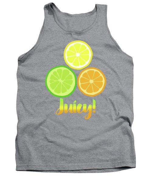 Cute Juicy Orange Lime Lemon Citrus Fun Art Tank Top