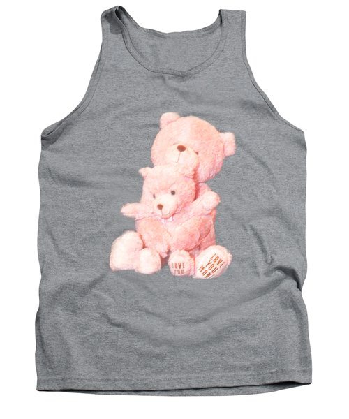 Cutout Hugging Bears Tank Top