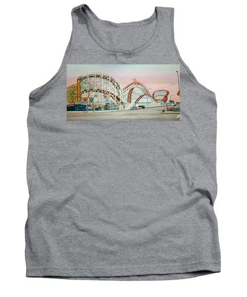 Cyclone Rollercoaster Coney Island, Ny Towel Version Tank Top