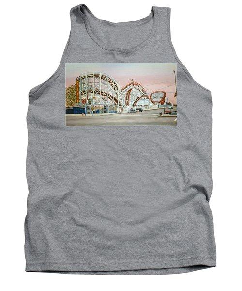 Cyclone Rollercoaster In Coney Island New York Tank Top