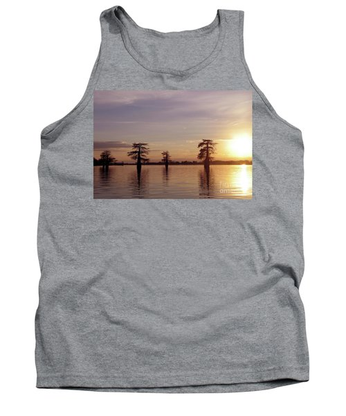 Cypress Sunset Tank Top by Sheila Ping