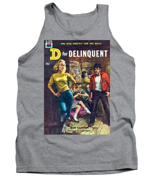 Tank Top featuring the painting D For Delinquent by Rudy Nappi