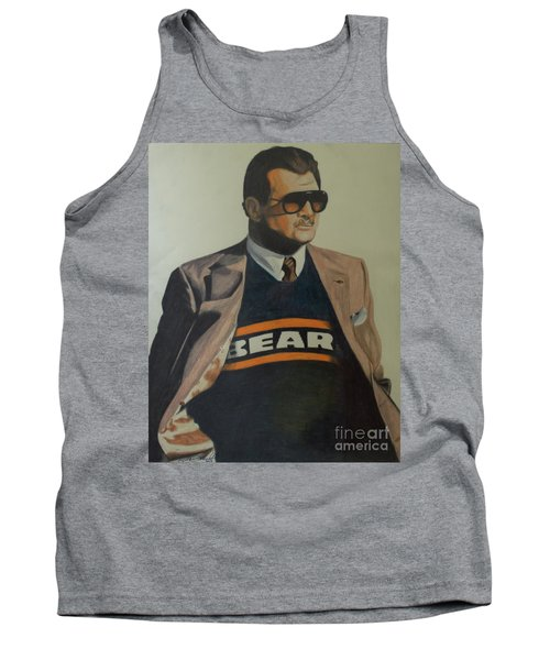 Tank Top featuring the drawing Da Coach Ditka by Melissa Goodrich