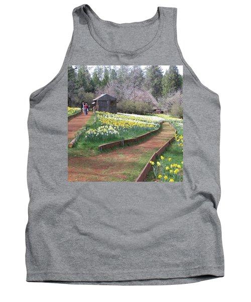 Daffodil Hill Pathway Tank Top by Karen J Shine