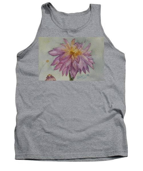 Tank Top featuring the painting Dahlia At Eastport Me by Donna Walsh