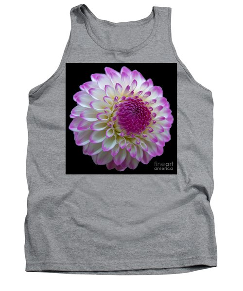 Dahlia Fine Art On Black Tank Top