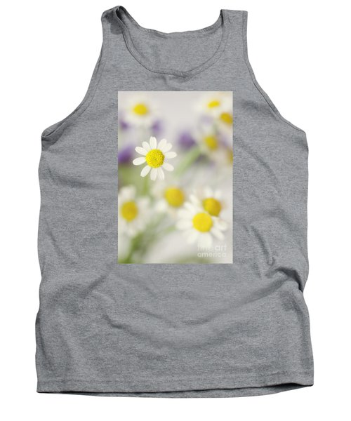 Daisies In Morning Mist Tank Top