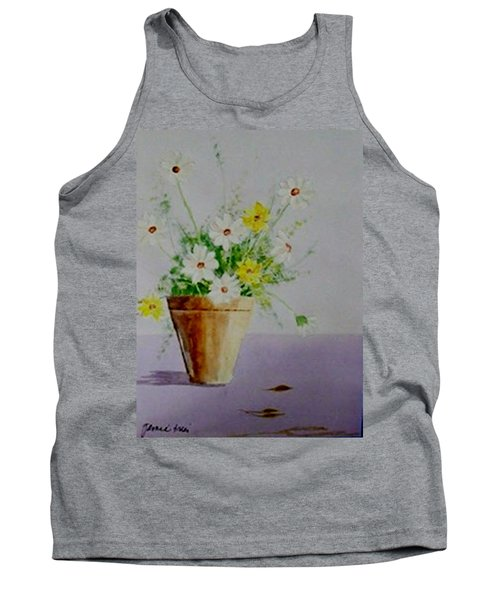 Daisies In Pot Tank Top by Jamie Frier