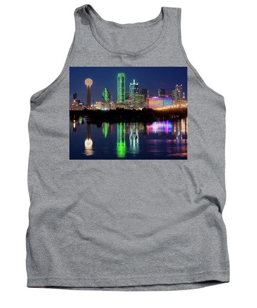 Dallas Skyline Reflection 91317 Tank Top