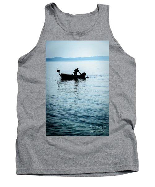 Dalmatian Coast Fisherman Silhouette, Croatia Tank Top