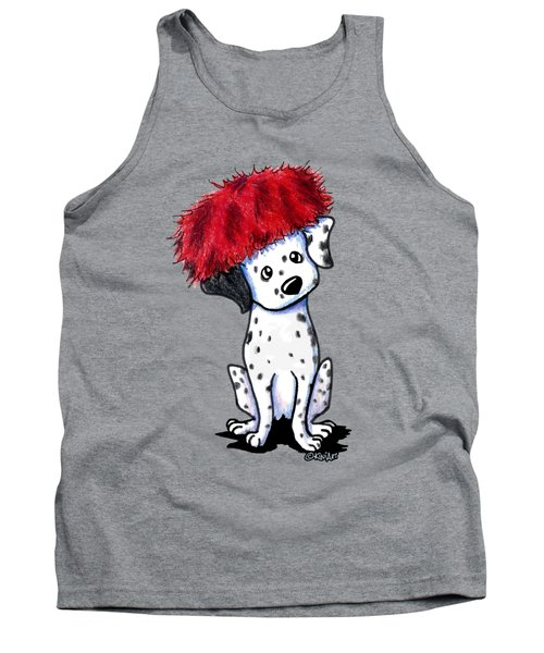 Dalmatian In Red Tank Top
